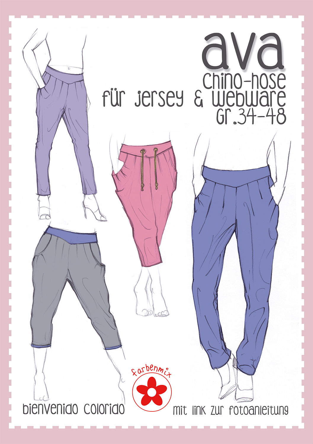 Farbenmix ☆ Schnittmuster Chino-Hose \